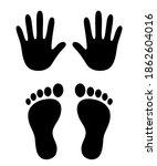 Human Hand And Foot Prints ...