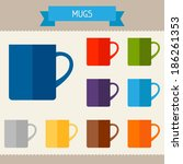 mugs colored templates for your ... | Shutterstock .eps vector #186261353
