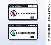 access denied and access... | Shutterstock .eps vector #1862619640