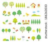 trees set | Shutterstock .eps vector #186263033