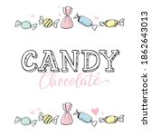 cute candy illustrations.... | Shutterstock .eps vector #1862643013