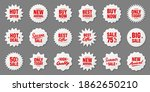 realistic price tags collection.... | Shutterstock .eps vector #1862650210