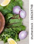 ingredients for fresh salad...