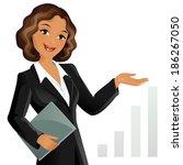 businesswoman | Shutterstock .eps vector #186267050