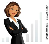 businesswoman | Shutterstock .eps vector #186267254