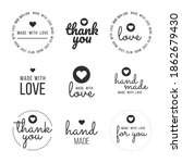 set labels and bages for... | Shutterstock .eps vector #1862679430