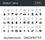 collection of vector black and... | Shutterstock .eps vector #1862690719