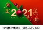 2021 new year promotion poster... | Shutterstock .eps vector #1862699530