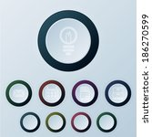 set of round buttons  vector...