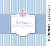 vector invitation card | Shutterstock .eps vector #186271343