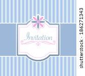 vector invitation card | Shutterstock .eps vector #186271343