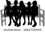 black silhouettes of a people... | Shutterstock . vector #1862720443