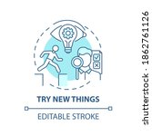 Try New Things Concept Icon....