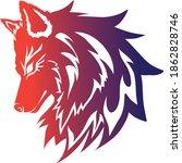 wolf logo for esport team   Shutterstock .eps vector #1862828746