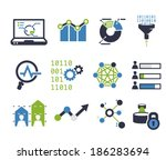 data analytic icon set | Shutterstock .eps vector #186283694