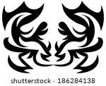 illustration of decorative... | Shutterstock . vector #186284138