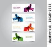 abstract wave design banner web ... | Shutterstock .eps vector #1862849953