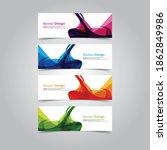 abstract wave design banner web ... | Shutterstock .eps vector #1862849986