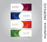 abstract wave design banner web ... | Shutterstock .eps vector #1862851123