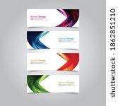 abstract wave design banner web ... | Shutterstock .eps vector #1862851210