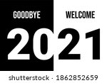 vector new year 2021. goodbye... | Shutterstock .eps vector #1862852659
