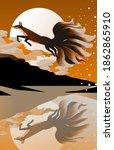 japanese mythology magical nine ... | Shutterstock .eps vector #1862865910