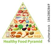 healthy food pyramid chart... | Shutterstock .eps vector #1862882869