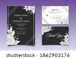 hand drawing wedding invitation ... | Shutterstock .eps vector #1862903176