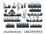 assorted grass and grass field... | Shutterstock .eps vector #1862904943