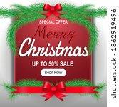 christmas sale promotion banner ... | Shutterstock .eps vector #1862919496