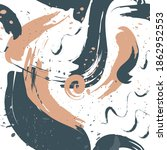 abstract brush splash seamless... | Shutterstock .eps vector #1862952553