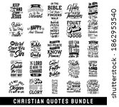 christian quotes bundle  set of ... | Shutterstock .eps vector #1862953540