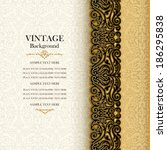 vintage background  antique... | Shutterstock .eps vector #186295838