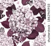 Pattern Of Hydrangea With...