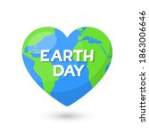earth day. planet earth in... | Shutterstock .eps vector #1863006646