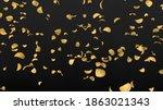 crunchy potato chips rain.... | Shutterstock . vector #1863021343