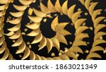 spirally sorted crunchy potato... | Shutterstock . vector #1863021349