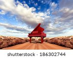 music concept.scenery and piano ... | Shutterstock . vector #186302744