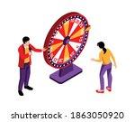 isometric tv quiz composition...   Shutterstock .eps vector #1863050920