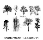 vector trees  | Shutterstock .eps vector #186306044