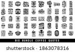 set of coffee quotes typography ... | Shutterstock .eps vector #1863078316