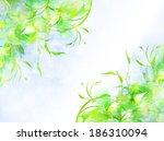 leaf fern landscape | Shutterstock .eps vector #186310094