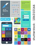 ui square   set of icons in the ...