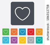 heart sign icon. love symbol.... | Shutterstock .eps vector #186312758