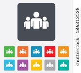 group of people sign icon.... | Shutterstock .eps vector #186313538