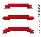 ribbon banner set of design... | Shutterstock . vector #186314546