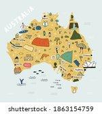 Map Of Australia In Cartoon...