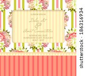 wedding invitation cards with... | Shutterstock .eps vector #186316934