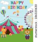 circus birthday | Shutterstock .eps vector #186320630