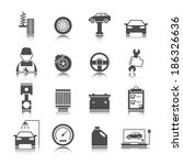car auto service icons set of... | Shutterstock . vector #186326636